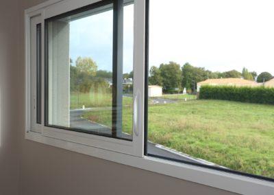 Fenêtre coulissante alu - Talmont-les Sables 85- détails
