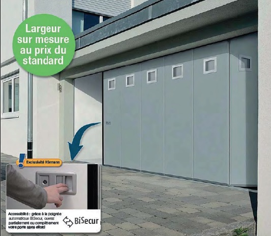 Porte de garage ouverture lat rale en promotion for Promotion porte de garage sectionnelle