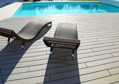Terrasse composite piscine menuiserie - MSB 85 Talmont
