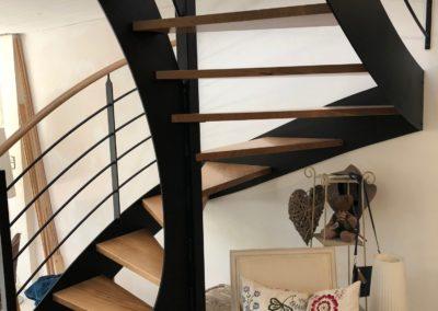 Escalier bois métal par menuiserie MSB vendée