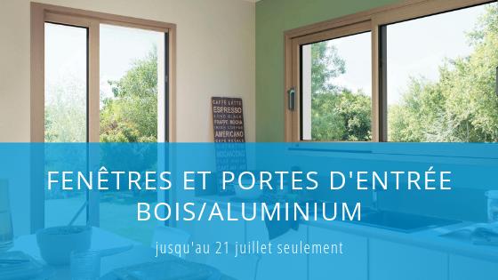 Fenêtres et portes d'entrée bois/aluminium