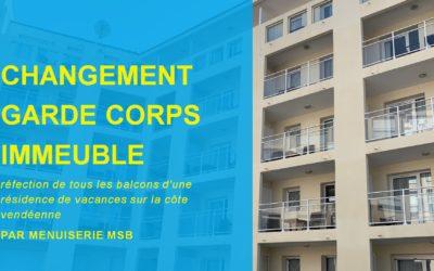 Garde corps balcons immeuble