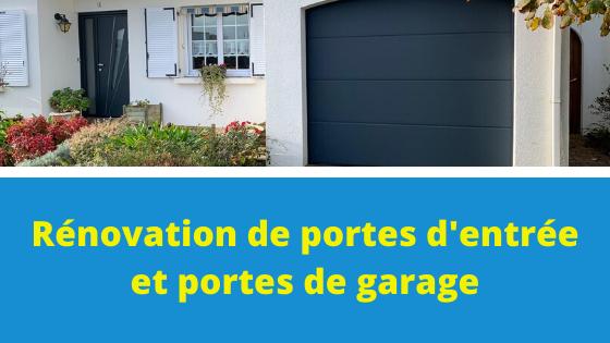 Remplacement porte d'entrée et de garage à Talmont-Saint-Hilaire