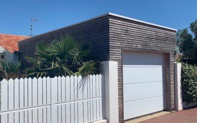 Création d'un garage en ossature bois